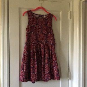 Target purple print tank top dress size medium